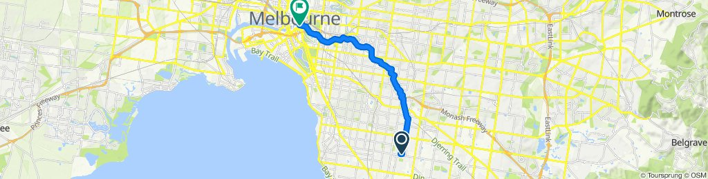Steady ride in Melbourne