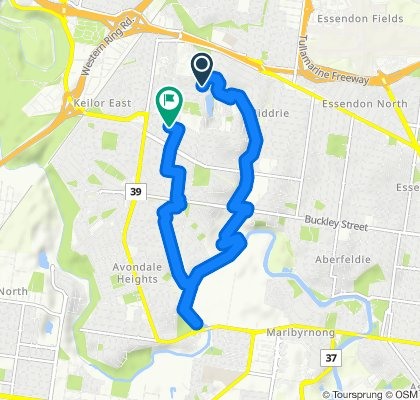 Relaxed route in Keilor East