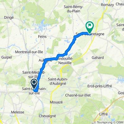 Itinéraire modéré en Sens-de-Bretagne