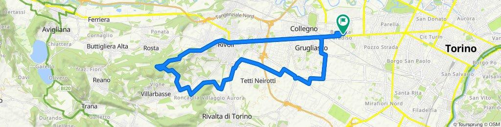 FATTY, sterrato di Rivalta , primo truc su Villarbasse,scollino su Morenica e ritorno
