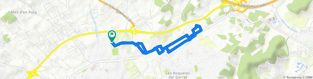 Ruta constante en Vilanova i la Geltrú