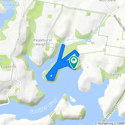 Moderate route in Oatley
