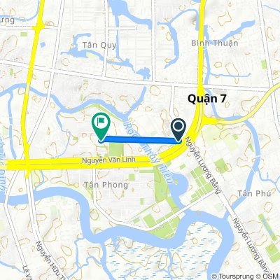 Relaxed route in Ho Chi Minh City