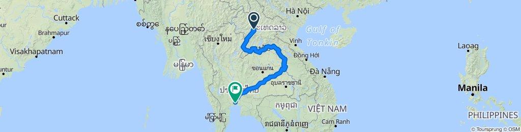 Luang prabang al Bangkok
