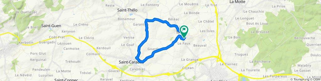 Itinéraire modéré en Trévé, reprise un peut difficile.