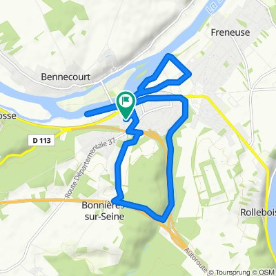 Itinéraire confortable en Bonnières-sur-Seine