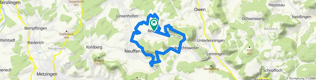 Sportliche Route in Beuren
