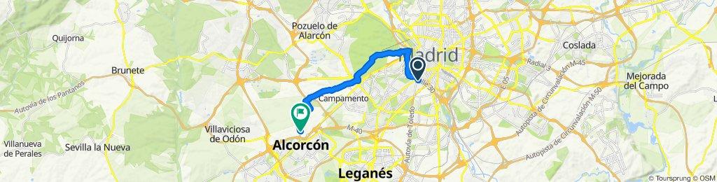 Ruta tranquila en Alcorcón
