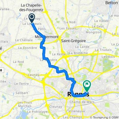 Itinéraire modéré en Rennes