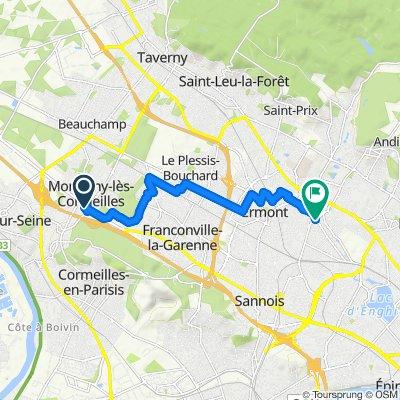 Itinéraire facile en Eaubonne