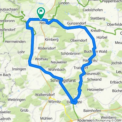 Rothenburg-Dombühl-Schillingsfürst-Rothenburg