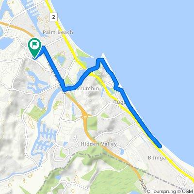 Dianella to Bilinga via oceanway