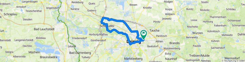 Tour zum Flughafen-Schkeuditz-Klara Zetkin Park und zurück nach Leipzig