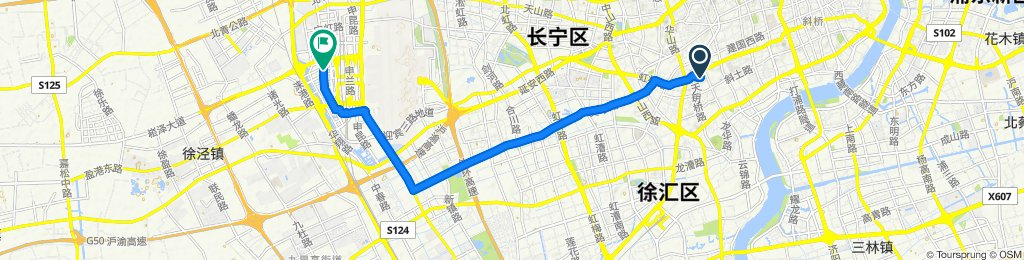 Relaxed route in Shanghai