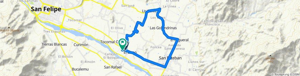 Paseo rápido en Santa María