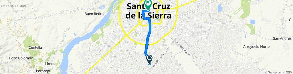 Ruta tranquila en Santa Cruz de la Sierra