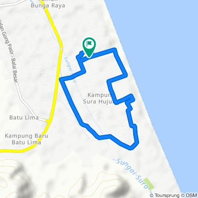 Relaxed route in Dungun