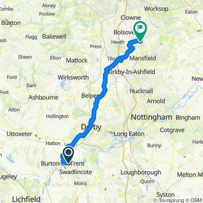 Burton to Shirebrook
