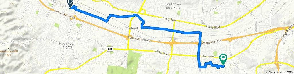 Restful route in Rowland Heights