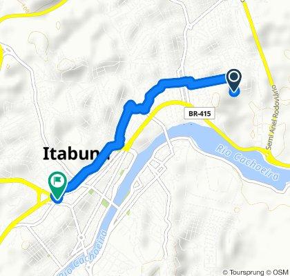 Rota repousante em Itabuna