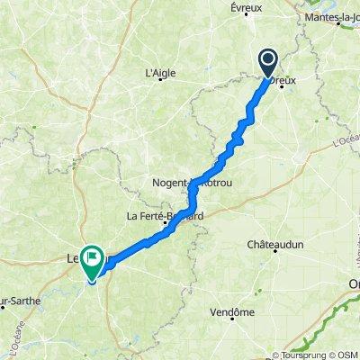 Vert-en-Drouais - Le Mans