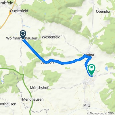 Wolfmanshausen —>Römhild