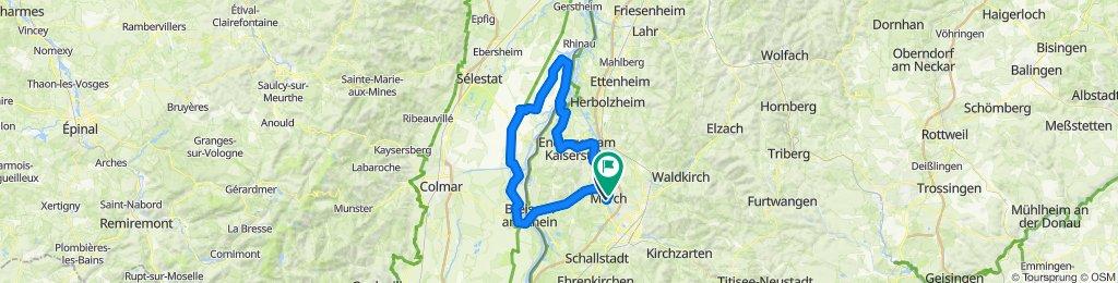 March-Riegel-Weisweil-Dieboldheim (Elsass)-Neuf Breisach-Ihringen-Bötzingen-March-Hugstetten.