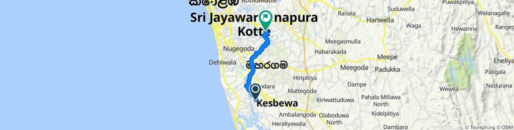 Steady ride in Sri Jayawardenepura Kotte