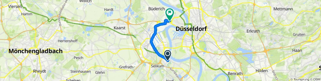 Langsame Fahrt in Düsseldorf