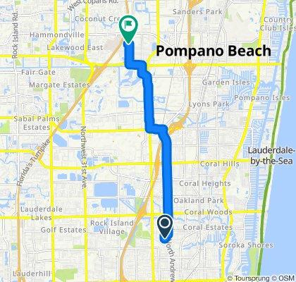 Paseo rápido en Pompano Beach