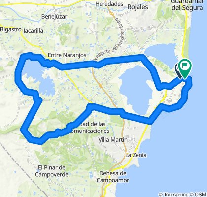 Sporty route in Torrevieja