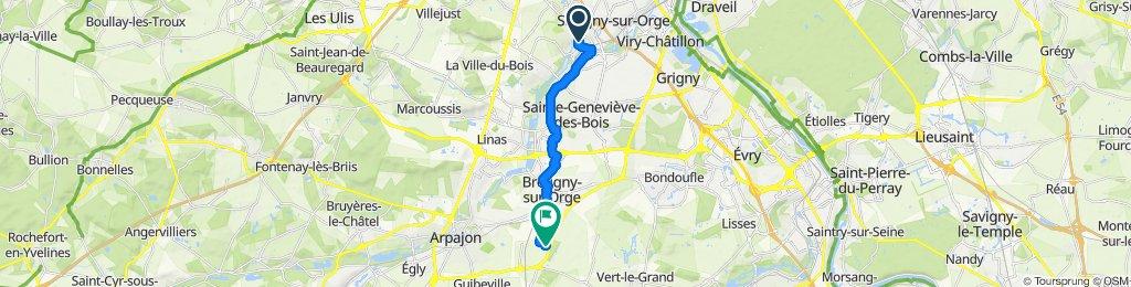 Route stable en Brétigny-sur-Orge