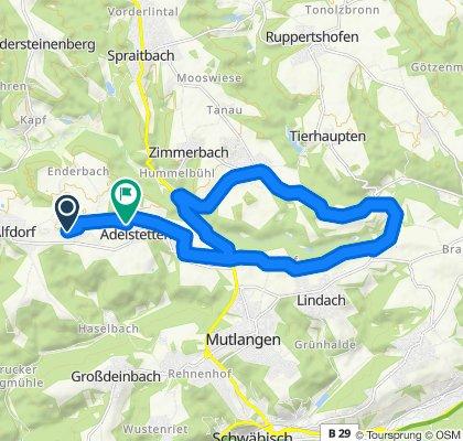 Gerade Fahrt in Alfdorf