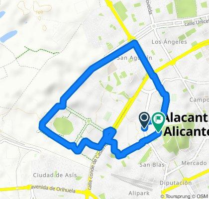 Ruta relajada Alicante