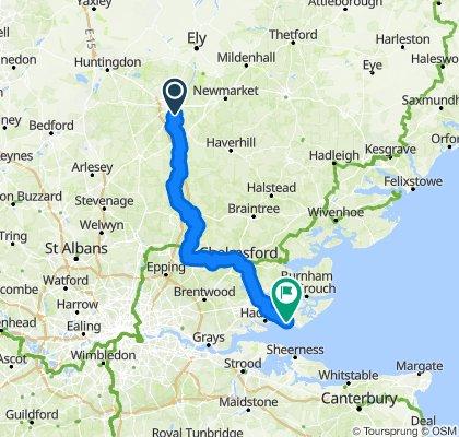 Cambridge to Southend-on-Sea