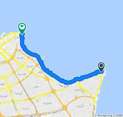 Restful route in Kuwait City
