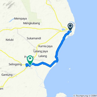 Relaxed route in Gantung