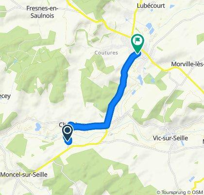 3B Route de Moncel, Chambrey to Place de la Saline, Château-Salins