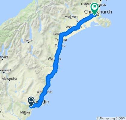 Dunedin - Christchurch