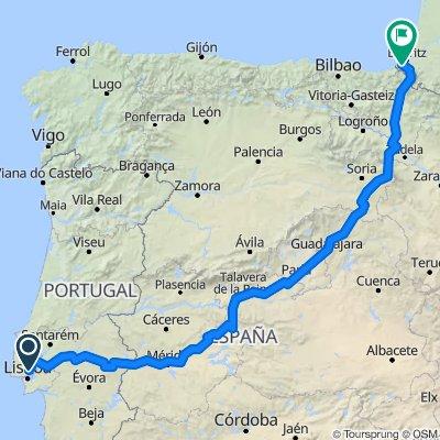 Lisbon to Saint-Jean de Luz via Madrid