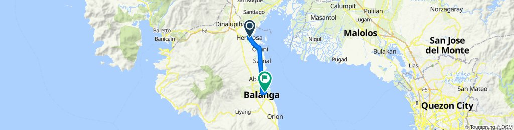 Blistering ride in City of Balanga