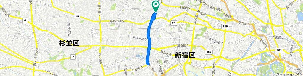 Nishi-shinjuku Cycling Route