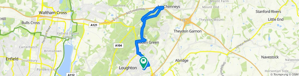 Slow ride in Loughton, Epping Forest