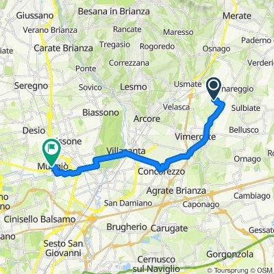 Via Giovanni Falcone 7, Villanova to Piazza Giuseppe Garibaldi 9, Muggiò