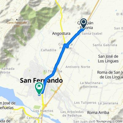 Ruta moderada en San Fernando