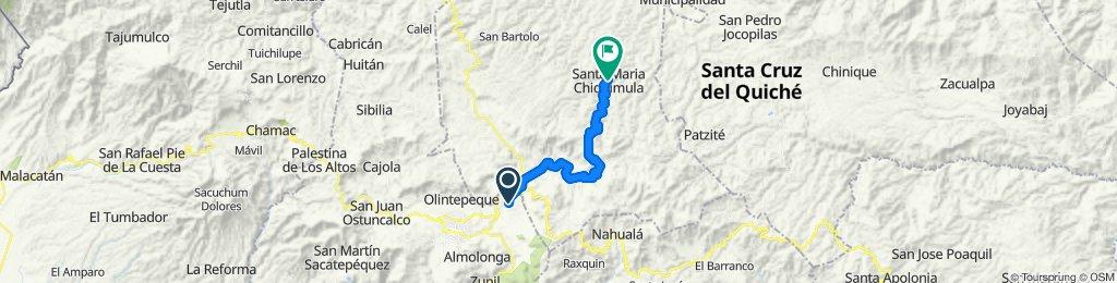 Ruta relajada en Santa María Chiquimula