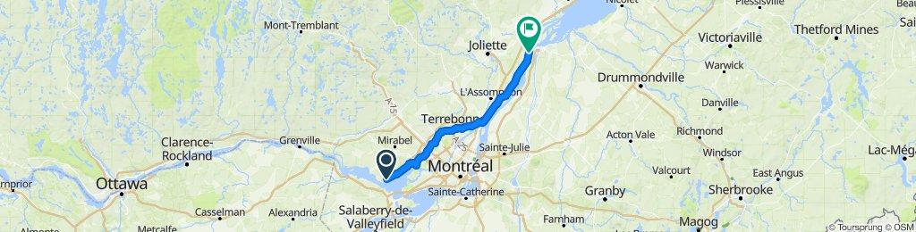 1080205 8of12 QC - 02e Oka, QC to Lanoraie, QC via Terrebone, QC (Motel Villa D'Autray) 106km