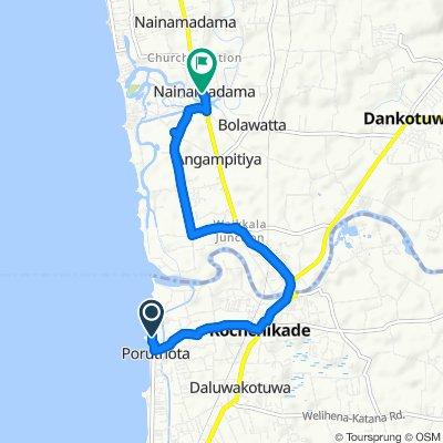 Restful ride in Nainamadama