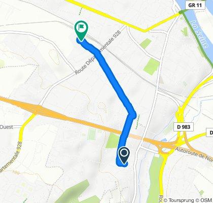 Route stable en Mantes-la-Ville
