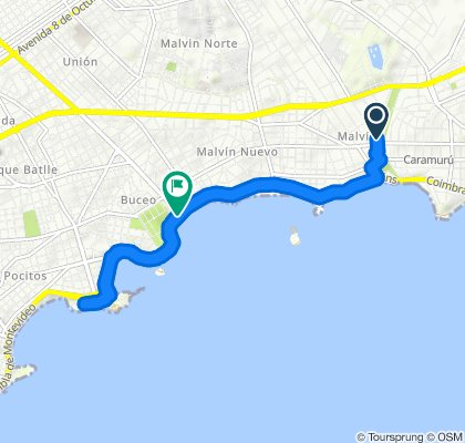 Paseo rápido en Montevideo